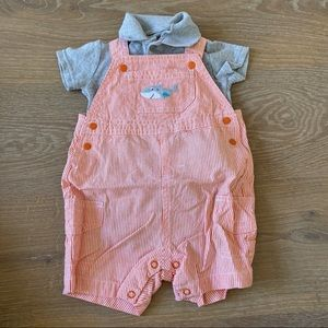 Just One You Orange Overalls